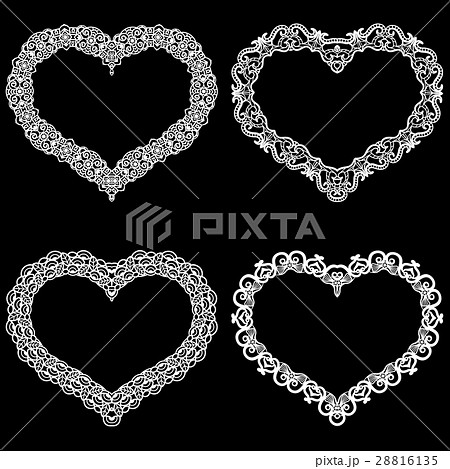 Laser cut frame in the shape of a heart 28816135