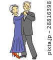 社交ダンスのおばあさんおじいさん 28816398