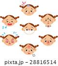 病気の女の子の表情 28816514