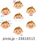 病気の男の子の表情 28816515