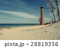 Little Sable Point Lighthouse in dunes 28819356