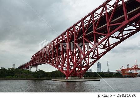大阪の赤い橋・風景 28821030