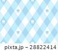 チューリップと斜めギンガムチェック風柄のかわいいシームレスパターン ブルー系 ベクター 28822414