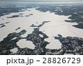 カナダのアイスロード空撮  Great Slave Lake canada Ice Road 28826729