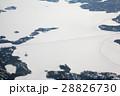 カナダのアイスロード空撮  Great Slave Lake canada Ice Road 28826730