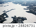 カナダのアイスロード空撮  Great Slave Lake canada Ice Road 28826731