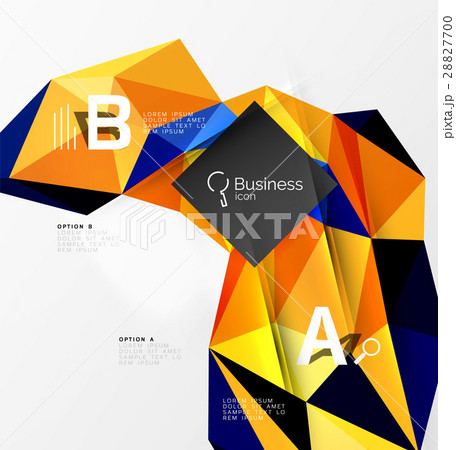 3d polygonal object triangles, abstract backgroundのイラスト素材 [28827700] - PIXTA