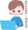 笑顔の女性 パソコン 資格 勉強 28833708