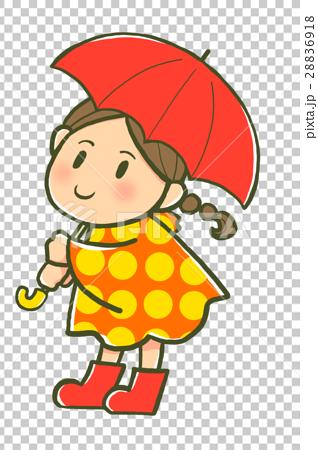 傘をさす女の子 28836918