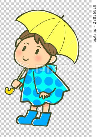 傘をさす男の子 28836919
