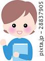 資格 勉強 笑顔の女性 28837905