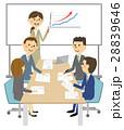人物 会議 打ち合わせのイラスト 28839646