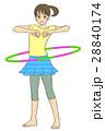 運動する女性(フラフープ) 28840174