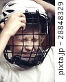 Little boy in the hockey helm. Emotions of child.  28848329