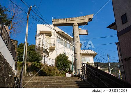 [長崎県]山王神社一本柱鳥居 28852293