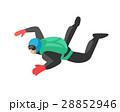 ベクトル スカイダイビング 人のイラスト 28852946