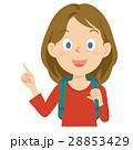 外国人 女性 旅行 上半身 イラスト 28853429