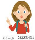外国人 女性 旅行 上半身 イラスト 28853431