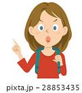 外国人 女性 旅行 上半身 イラスト 28853435