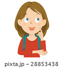 外国人 女性 旅行 上半身 イラスト 28853438