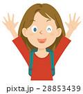 外国人 女性 旅行 上半身 イラスト 28853439