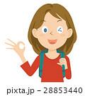外国人 女性 旅行 上半身 イラスト 28853440