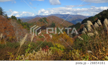 紅葉と山 / The autumn leaves and the mountains 28854161