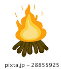 火 ベクトル キャンプファイアのイラスト 28855925