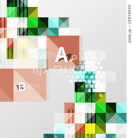 Modern geometrical abstract background, squaresのイラスト素材 [28858040] - PIXTA