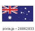 Australia flag symbol peeling 28862833