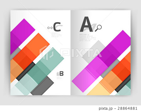 Vector modern geometrical a4 flyer brochureのイラスト素材 [28864881] - PIXTA
