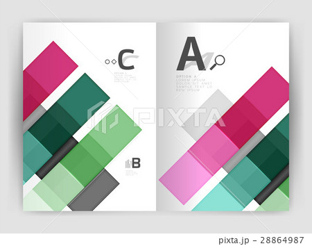 Business a4 business brochure geometrical templateのイラスト素材 [28864987] - PIXTA