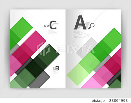 Business a4 business brochure geometrical templateのイラスト素材 [28864998] - PIXTA