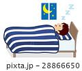 男性 睡眠 眠るのイラスト 28866650