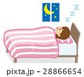女性 睡眠 眠るのイラスト 28866654