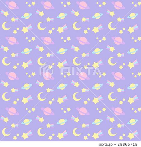 ファンシーでかわいい流れ星宇宙柄シームレスパターン 背景