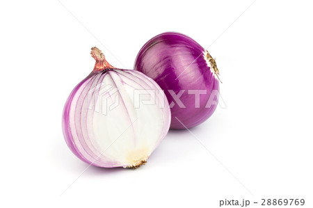 Red sliced onion.の写真素材 [28869769] - PIXTA