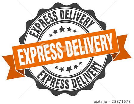 express delivery stamp. sign. seal 28871678