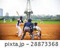 野球 ベースボール 白球の写真 28873368