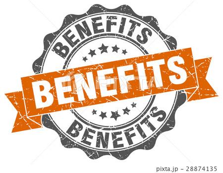 benefits stamp. sign. seal 28874135