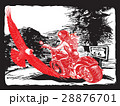 An woman riding motorcycle. An hand drawn vector. 28876701