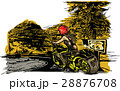 An woman riding motorcycle. An hand drawn vector. 28876708