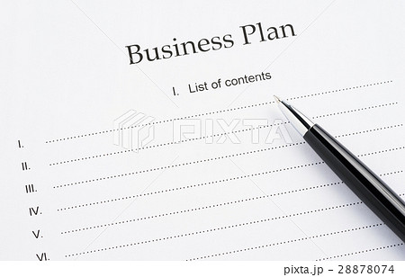 business plan documentの写真素材 28878074 pixta