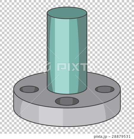 Instrument detail icon. Cap icon, cartoon style 28879531