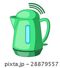 Plastic electric kettle with wi fi connection icon 28879557