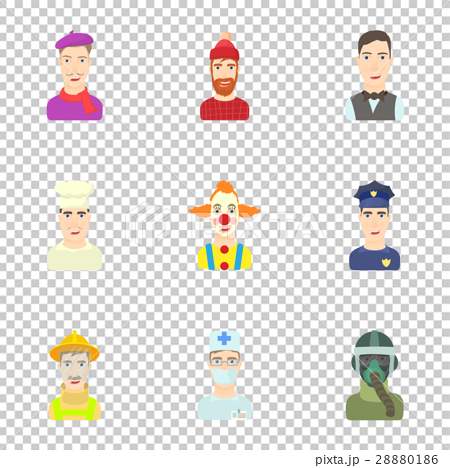 Workers icons set, cartoon style 28880186