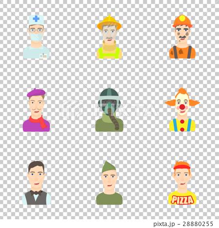 Profession icons set, cartoon style 28880255