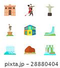 Brazil icons set, cartoon style 28880404