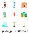 観光 ブラジル アイコンのイラスト 28880523