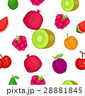Types of fruit pattern, cartoon style 28881845